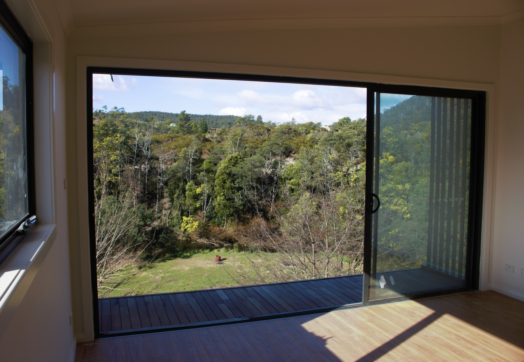 View over the Ringarooma River from main living area.